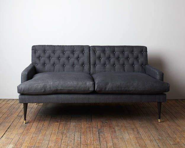 Love seat upholstered in hand-dyed linen • Jason Wu Home Collection with Canvas