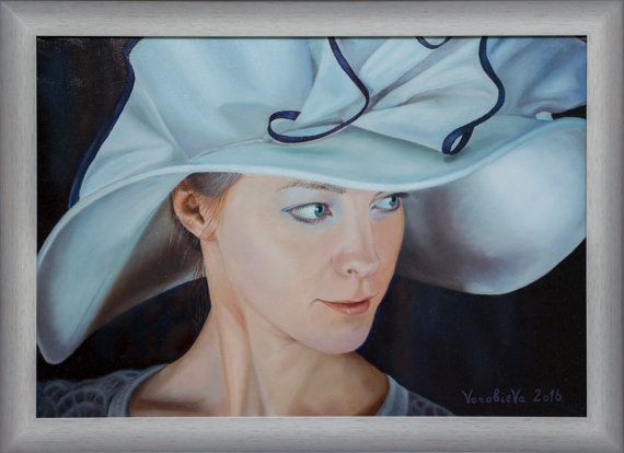 Oil Painting. Portrait. Parisian. Painting for by BASTET11HandMade