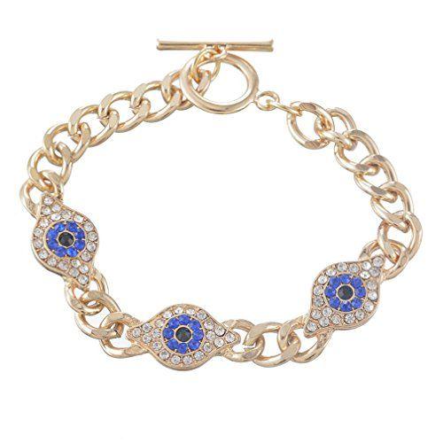 MJartoria Rhinestone Pave Evil Eye Toggle Clasp Chain Bracelet Gold Color MJartoria http://www.amazon.com/dp/B00XLGM5XA/ref=cm_sw_r_pi_dp_Cevvvb0CPY95A