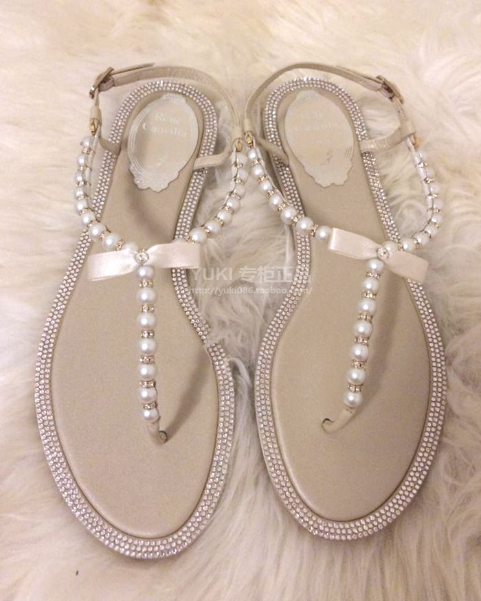 Perfect wedding shoes! Flats and cute. Rene caovilla is genius.