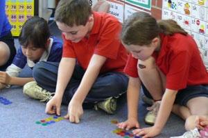 Calwell Primary School students