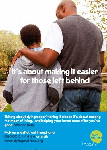 All of our leaflets and posters are free to download and print. To download this one, visit: dyingmatters.org/...