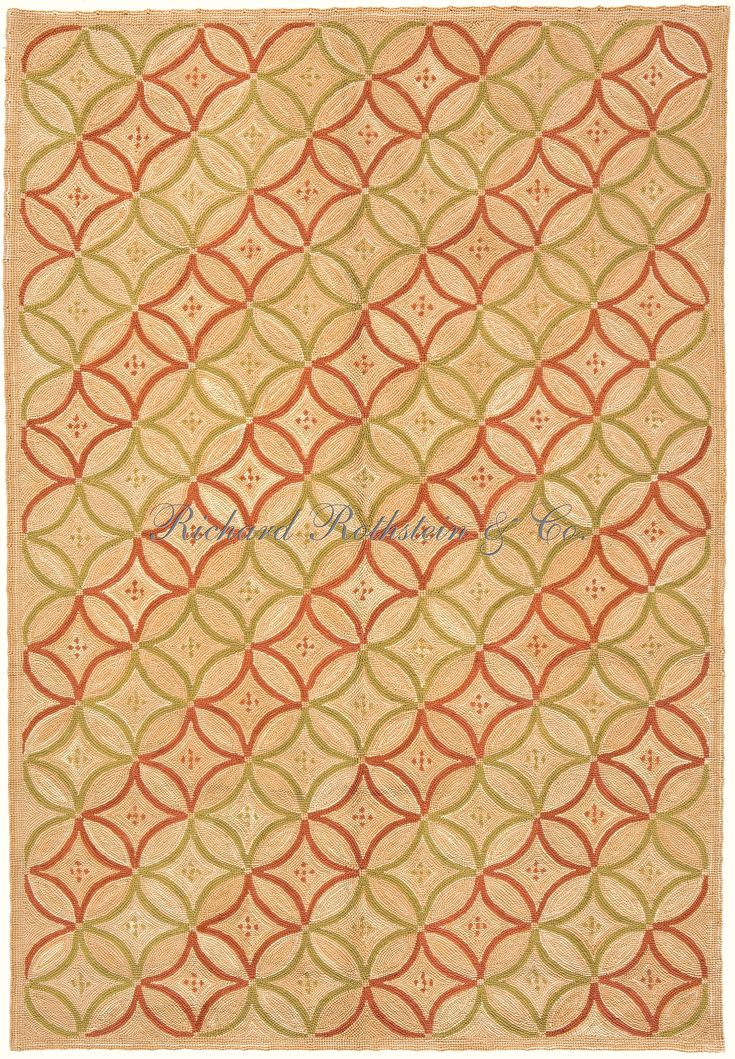 Museum Quality Hand Hooked Rug -  Egyptian Lattice