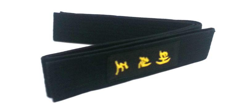 Taekwondo Siyah Kuşak İngilizce ve korece taekwondo nakışlı 2 metre boyunda tek dolama pamuklu profesyonel taekwondo nakışlı kuşak