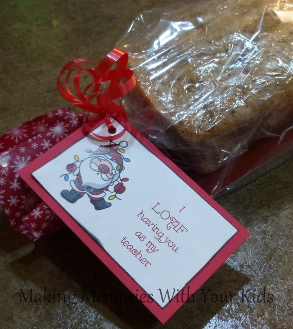 I LOAF Having You As My Teacher Christmas Gift Idea Free Printable With Other