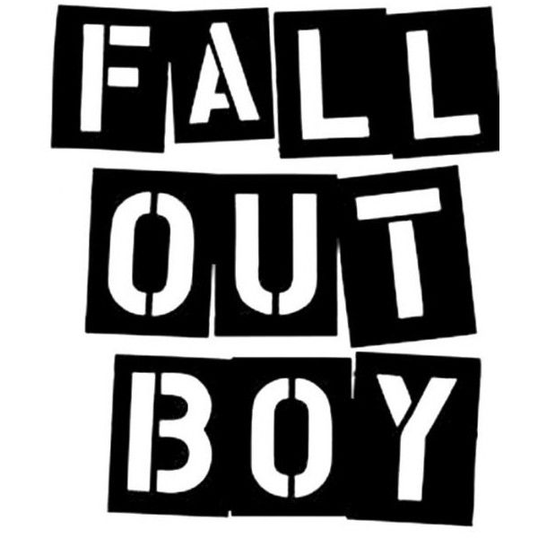 stencilry fall out boy fobletters liked on polyvore