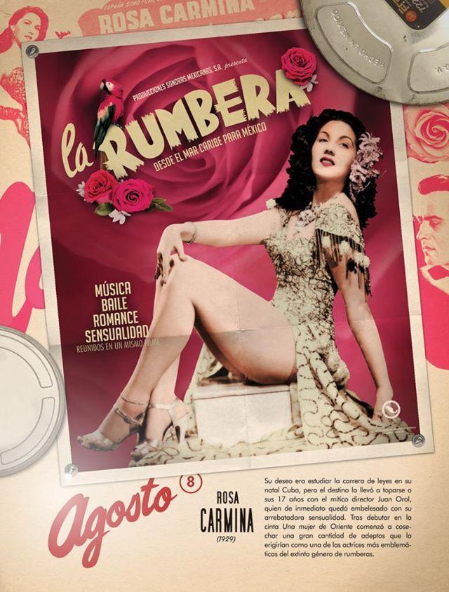 Rosa Carmina rumbera del cine mexicano.- 1940s-1960s