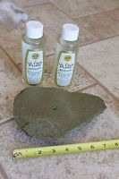 Slate Rock Oil Lamp Candle - Flaming Fire Stone w/2 bottles oil