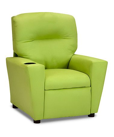 Love this Lime Green Kid's Recliner on #zulily! #zulilyfinds