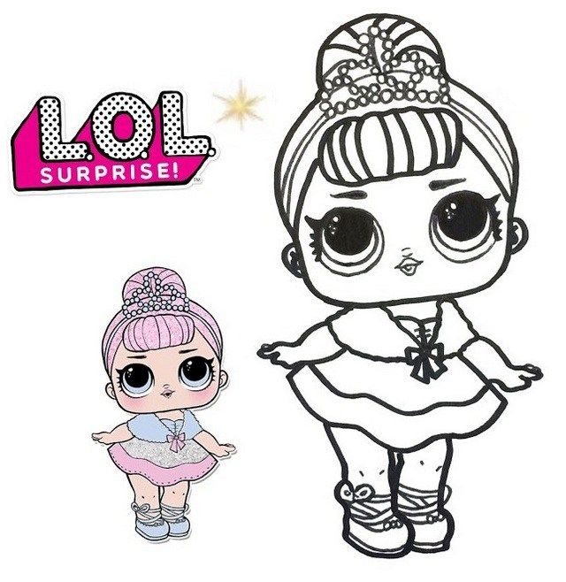 Fancy LOL Surprise Doll Coloring Sheet Coloring Pages
