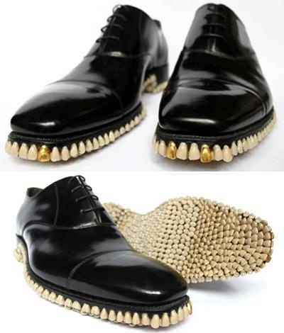 teeth soles. thanks Mitch! Art Dada's fur-lined tea cup has nothing on this.