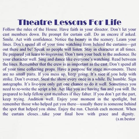 Theater Lessons for Life