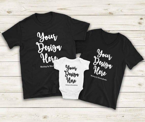 Download Best Free Matching Family Mockup Unisex Women T Shirts Baby Bodysuit Set Psd Free Psd Mockup Free Psd Mockups Templates Free Packaging Mockup Clothing Mockup