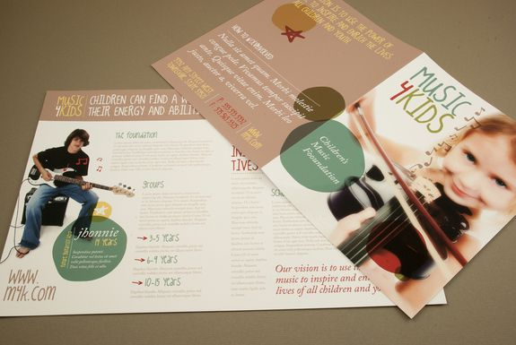 Music and Children Brochure Template