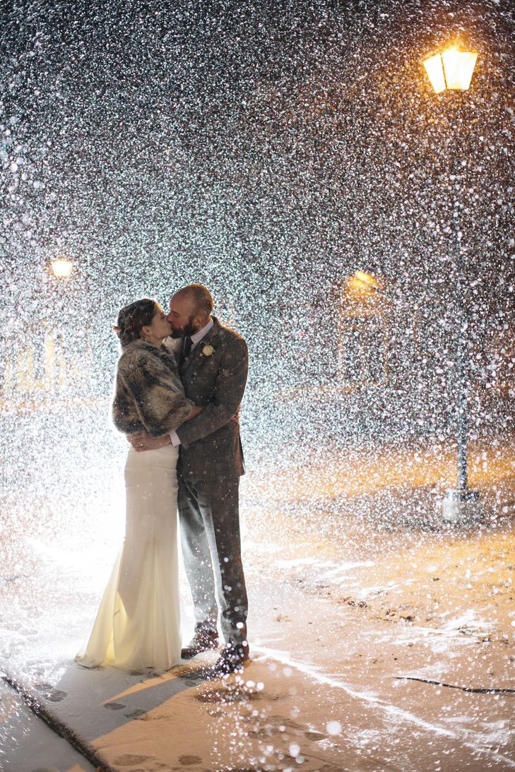 Gillian and Robin Snowy Winter Wedding   Nicole Miller   Lovely Bride www.thekno…