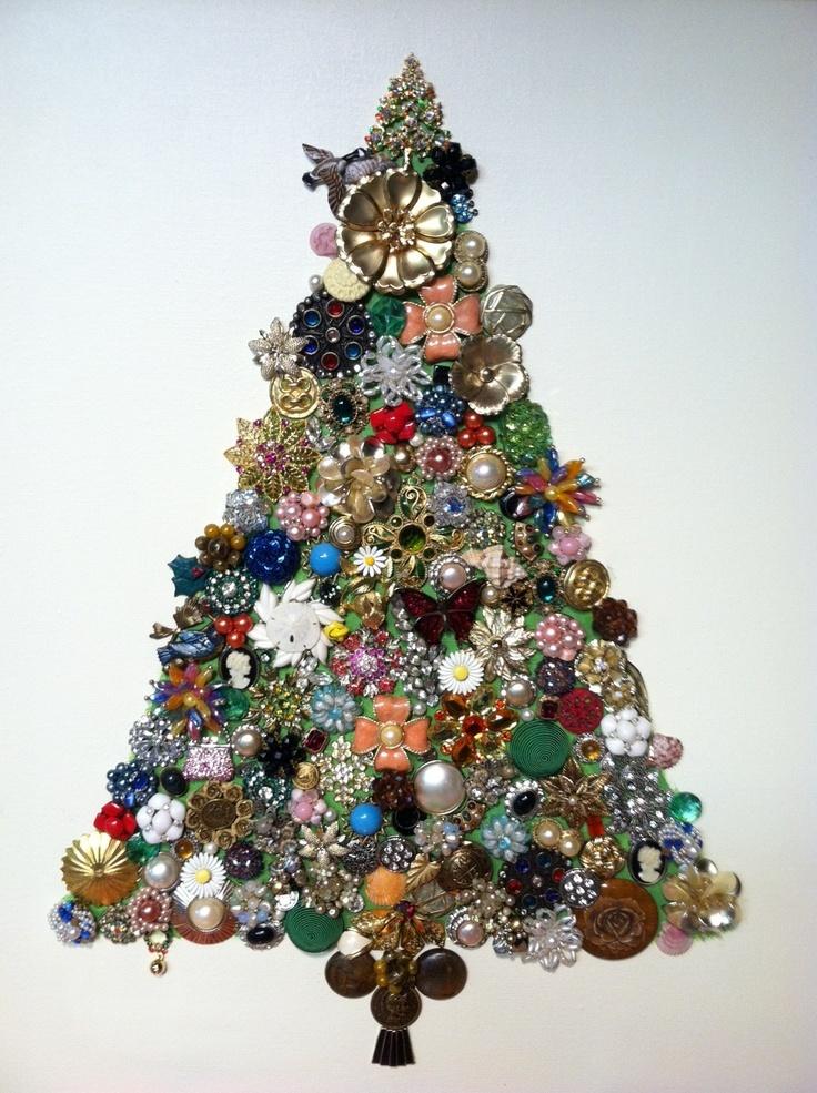 Assemblage Jewelry Tree