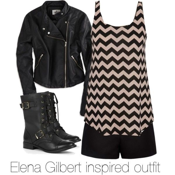 """Elena Gilbert inspired outfit/ The Vampire Diaries"" by tvdsarahmichele on Polyvore"