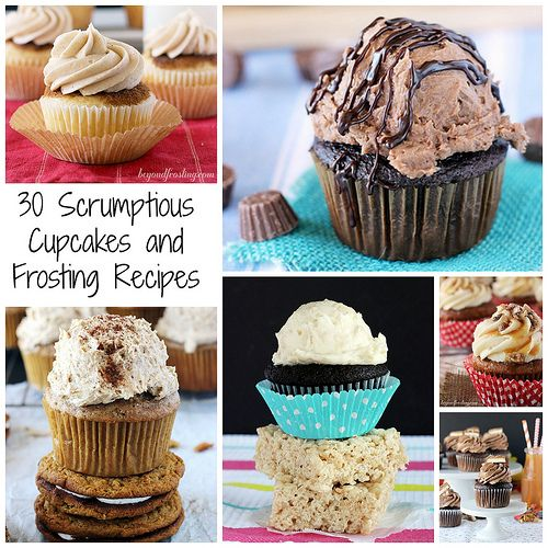 30 Scrumptious Cupcake and Frosting Recipes by Beyond Frosting !!