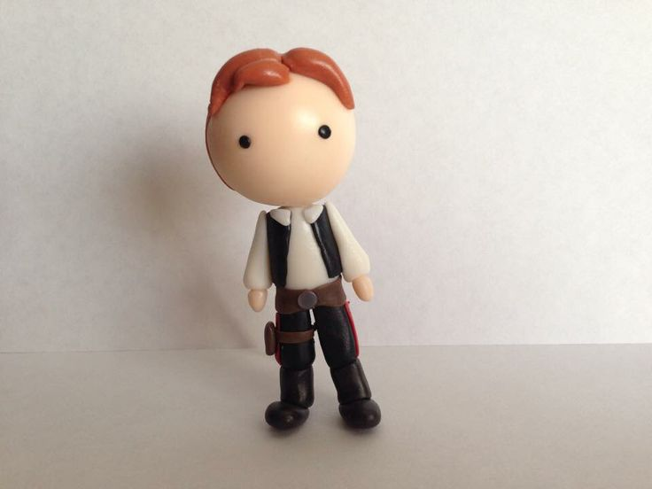 Han Solo, handmade of polymer clay. For us: Star Wars lovers