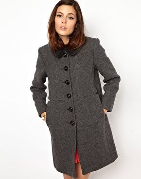 Image 1 of Orla Kiely Wool Coat with Detatchable Shearling Collar