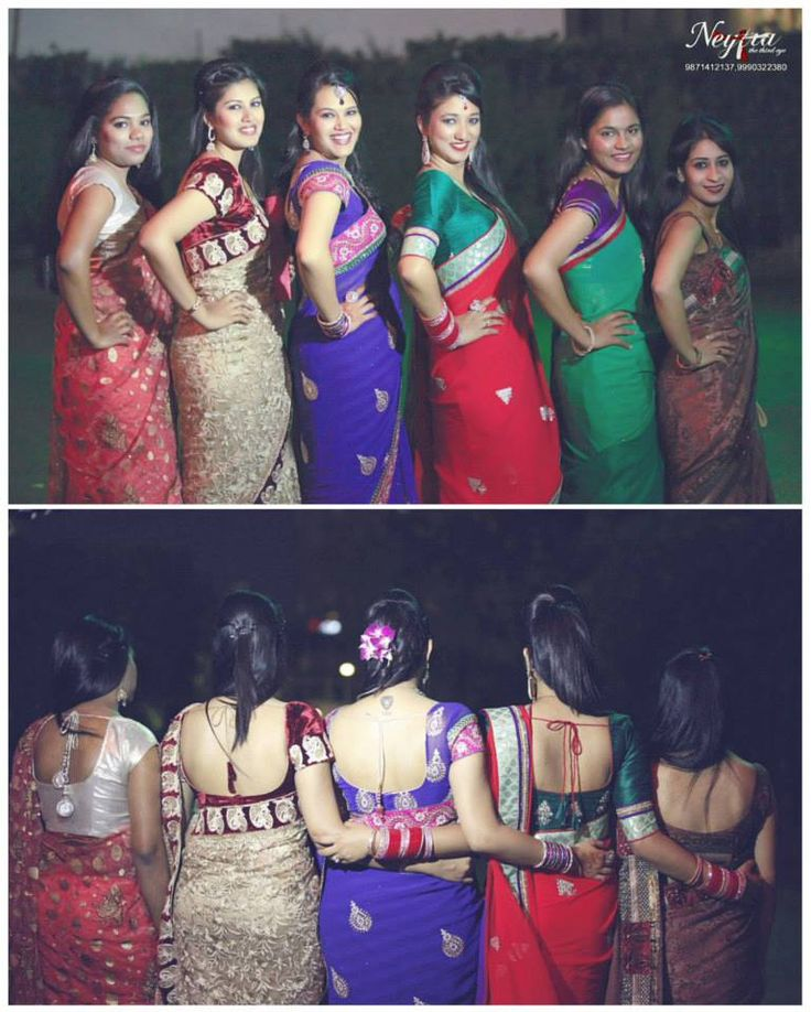 Cute poses by the bridesmaids