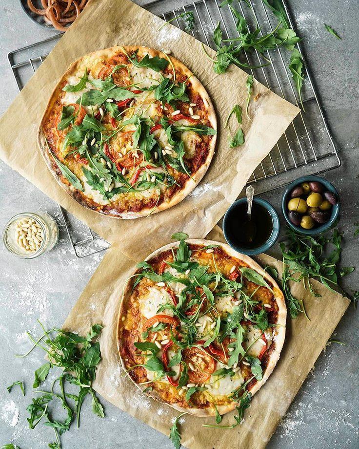 Veggie Sourdough Pizzaplant food recipes stylist photographer aboutthatfood@gmail.com