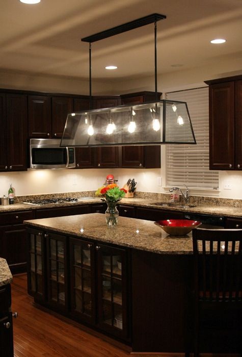 How to add under the cabinet lights.  It adds so much to the kitchen!