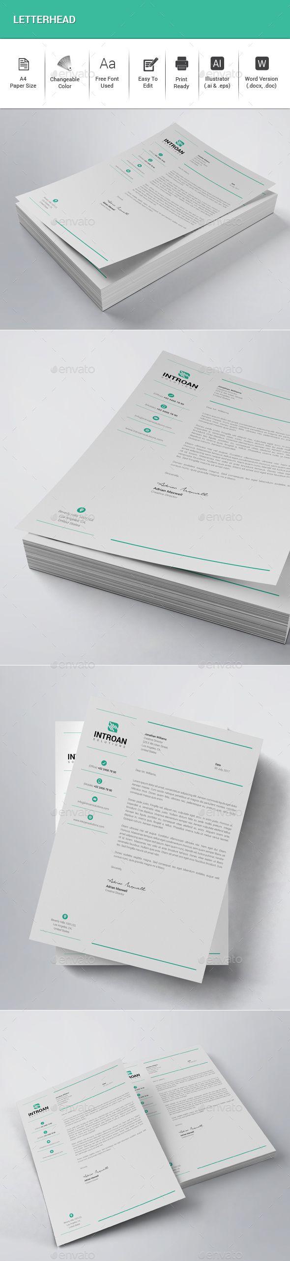 Letterhead Stationery Print Templates 232 best