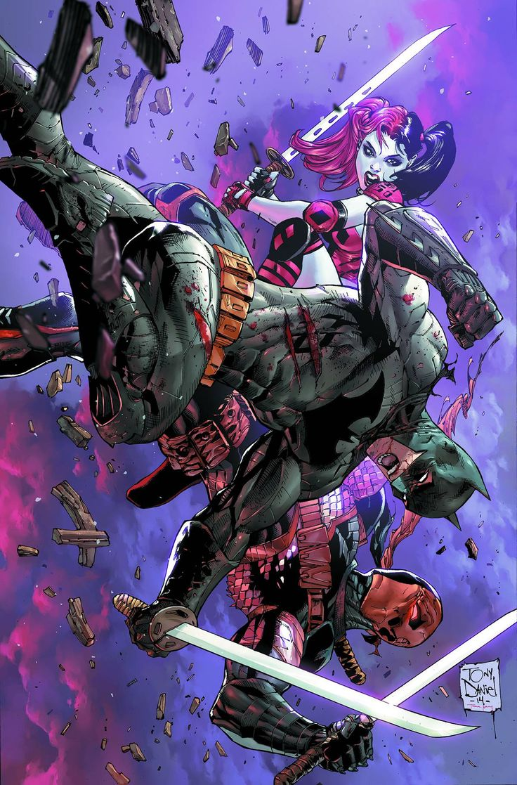 Deathstroke vs. Batman – with Harley Quinn stuck in the middle! The most intense, brutal battle in the history of The New 52 takes place in this issue! Written by TONY S. DANIEL Art by TONY S. DANIEL