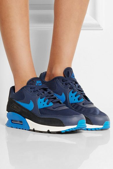Nike | Air Max 90 Essential leather, mesh, rubber and suede sneakers | NET-A-PORTER.COM