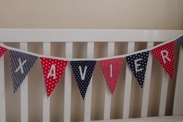 Personalised Bunting Boy Bedroom Party Bunting Flags Decoration Gift - by JoySisters on madeit