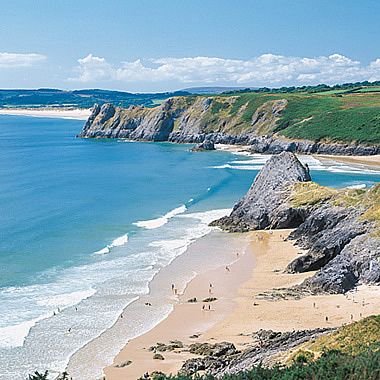 This is Three Cliffs Bay (Gower Peninsula, Wales), literally my favourite place in the world!
