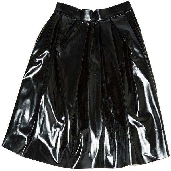 Pre-owned Marc Jacobs Mid-Length Skirt ($133) ❤ liked on Polyvore featuring skirts, black, women clothing skirts, mid length skirts, marc jacobs and marc jacobs skirt