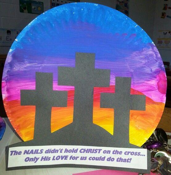 Paper plate / cross craft