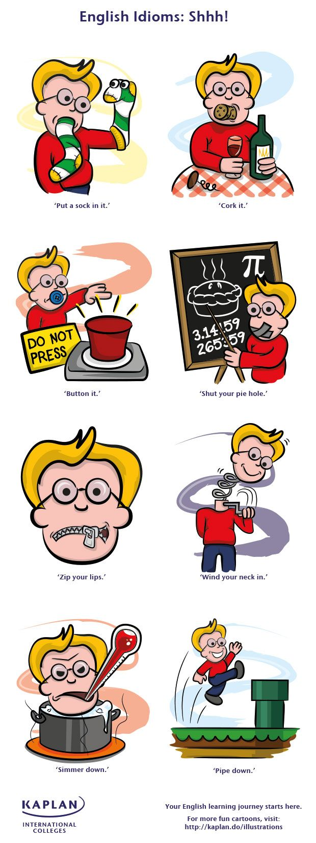 EwR.Vocabulary Poster #English English Idioms: Shhh! - ways to say be quiet - repinned by @PediaStaff – Please Visit ht.ly/63sNt for all our ped therapy, school & special ed pins