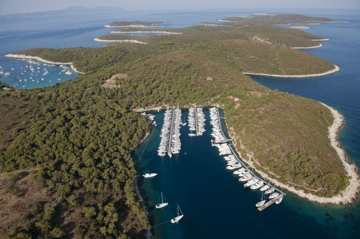 ACI Palmižana Opposite the island and town of Hvar, at a distance of only 2.5 nmi, lies Palmižana, a famous old haunt of Hvar residents. Hidden in one of the safest bays in the Adriatic, on a car-free island, Palmižana is the ideal retreat for all who wish to escape from the bustle of city life.