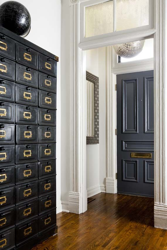 Charcoal interior doors Photography by Brandon Barré