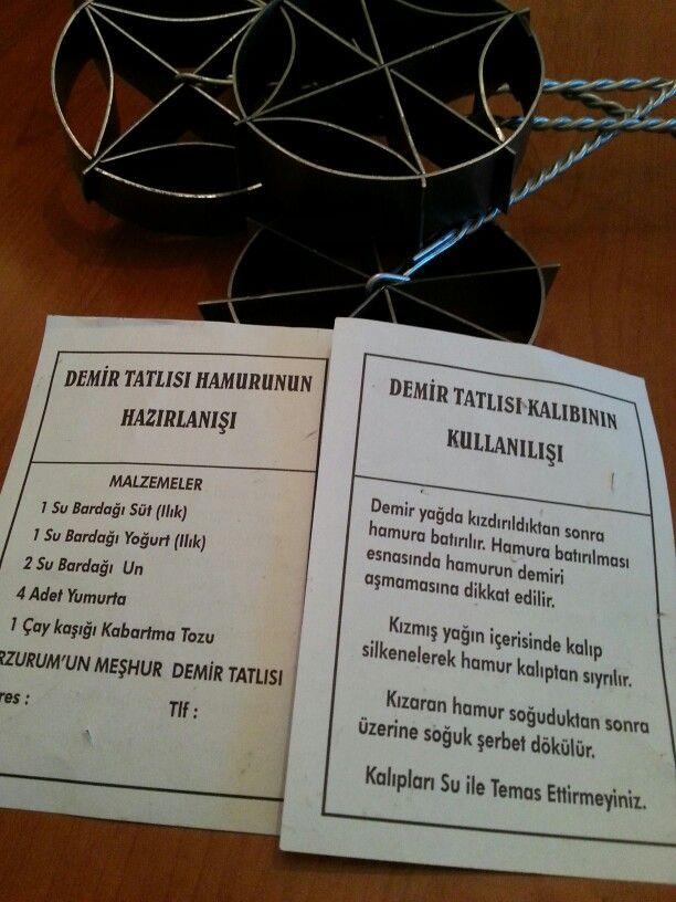 Erzurum demir tatlısı