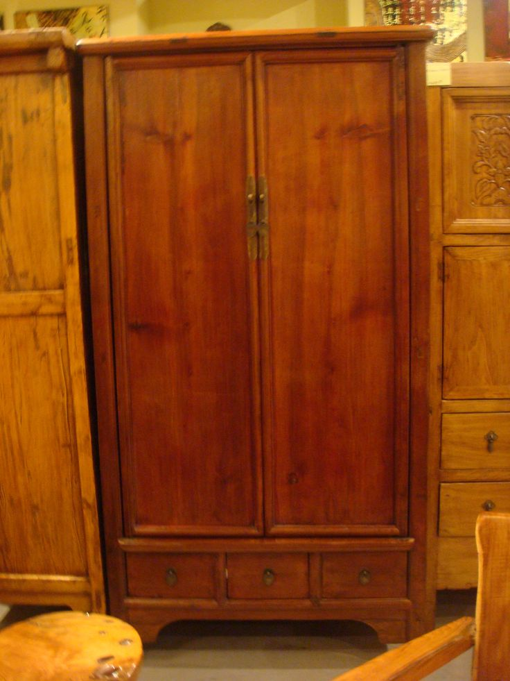 Asian style armoire from beijing furniture from china for Armoire penderie style japonais