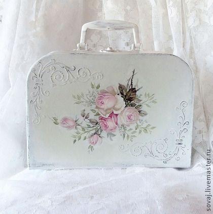 Beautiful decoupage suitcase!