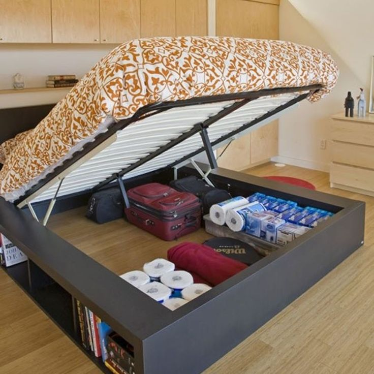 Bed with storage underneath
