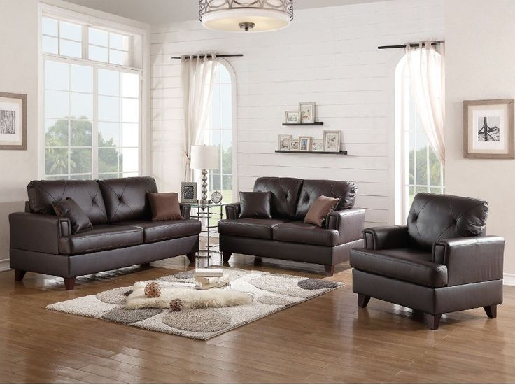 Bethany 3 Piece Leather Living Room Set Part 83