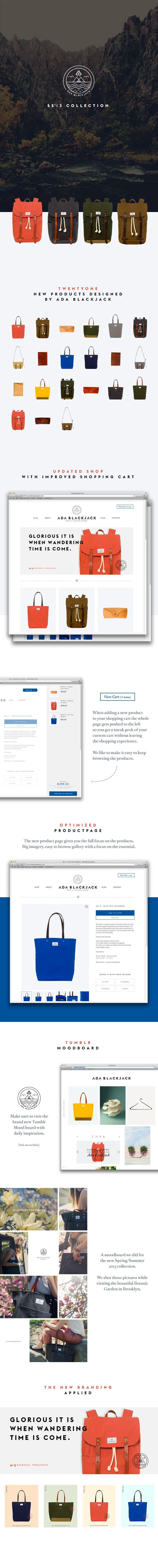 Ada Blackjack SS'13 Art Direction, Branding, Web Design