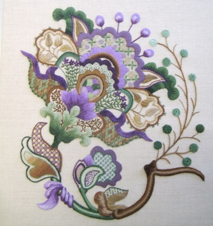 Jacobean Crewelwork bordado -# embroidery  #stitches  #@Af's 23/4/13