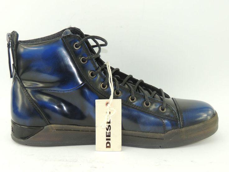 Diesel Diamond Tempus Herren Leder Sneaker Stiefel Schuhe Boot Chucks Gr. 43 Zip | eBay