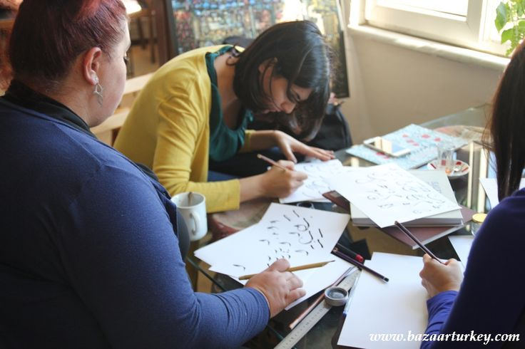 Ottoman - Arabic Eastern Calligraphy Classes continues with our guests from Lebanon in Ramadan 2016 / Istanbul.