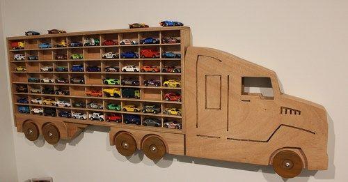 big-rig toy car display shelf