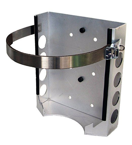 "Propane (BKT-2286) Mounting Bracket, Fits 11 lb. Worthington (2.5 gallon) Propane (LP) tank or the Manchester 10 lb. with a 9"" diameter Propane tank"