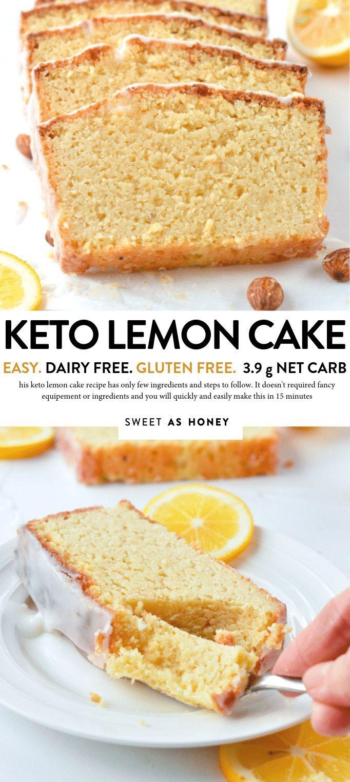 KETO LEMON POUND CAKE with Almond Flour, Dairy free, Gluten free #ketolemonpound…