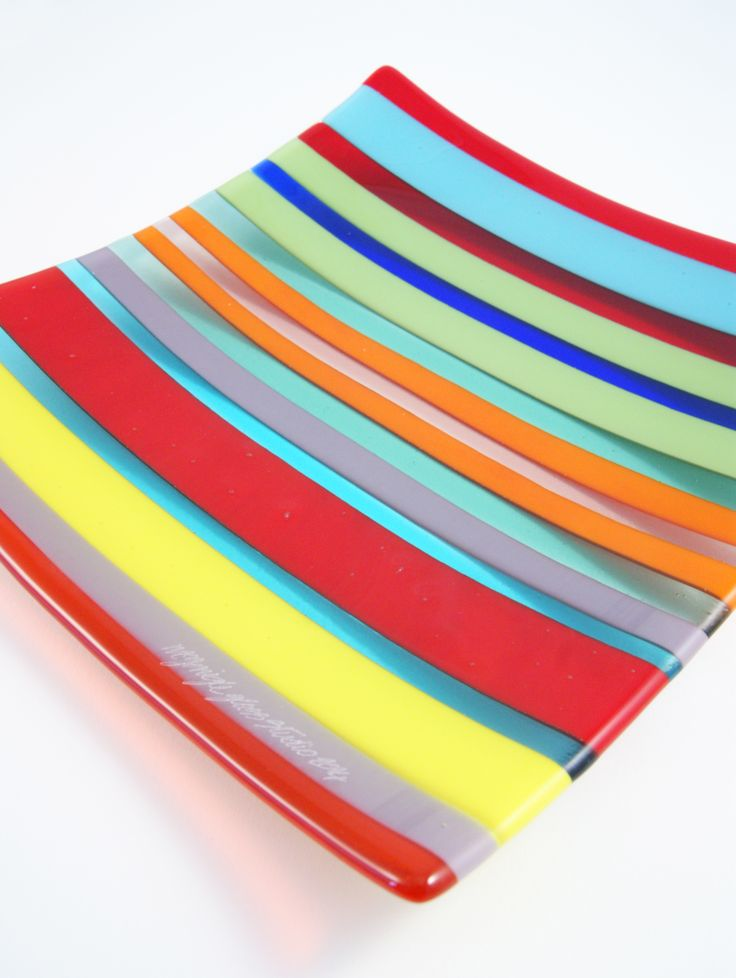 Mc Gonigle Glass Studio Fused Multicoloured Glass Plate. Made in Donegal. more about us here http://www.mcgonigleglassstudio.com